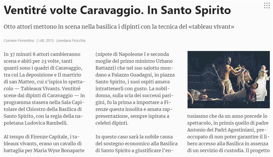Corriere Fiorentino | 2/09/2015