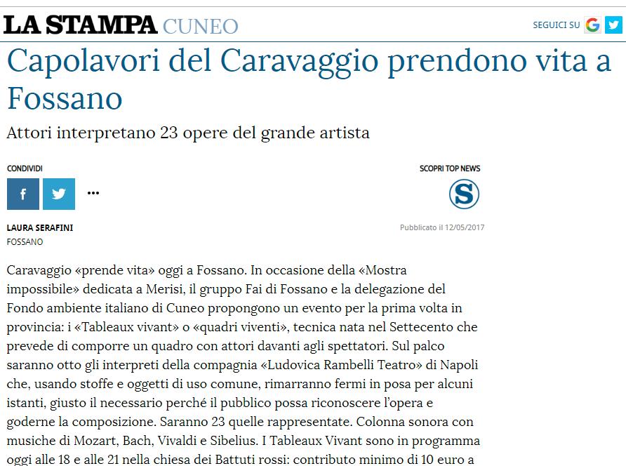 La Stampa ed. Cuneo | 12/05/2017