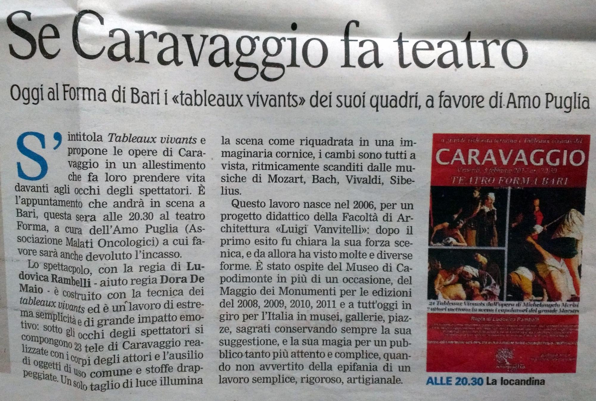 La Gazzetta del Mezzogiorno | 3/02/2017